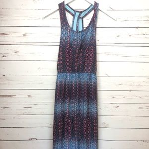 AQUA Maxi Blue Dress NWT Med